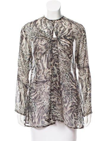 Zimmermann Silk Animal Printed Top None