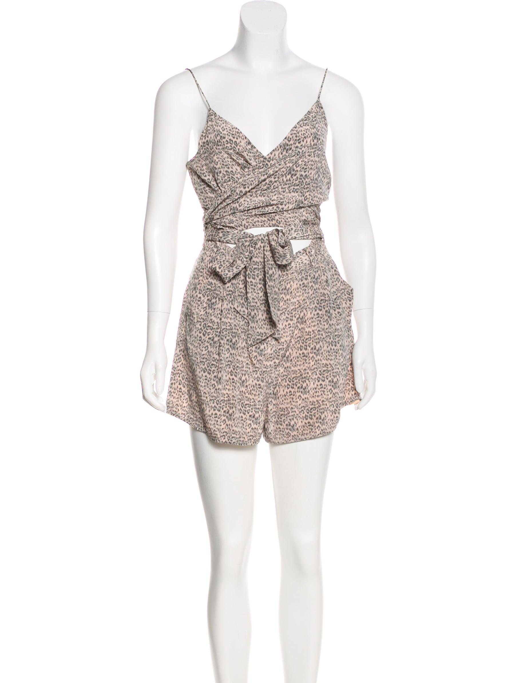 2c59bf5c4e8 Zimmermann Silk Leopard Print Romper - Clothing - WZI24490