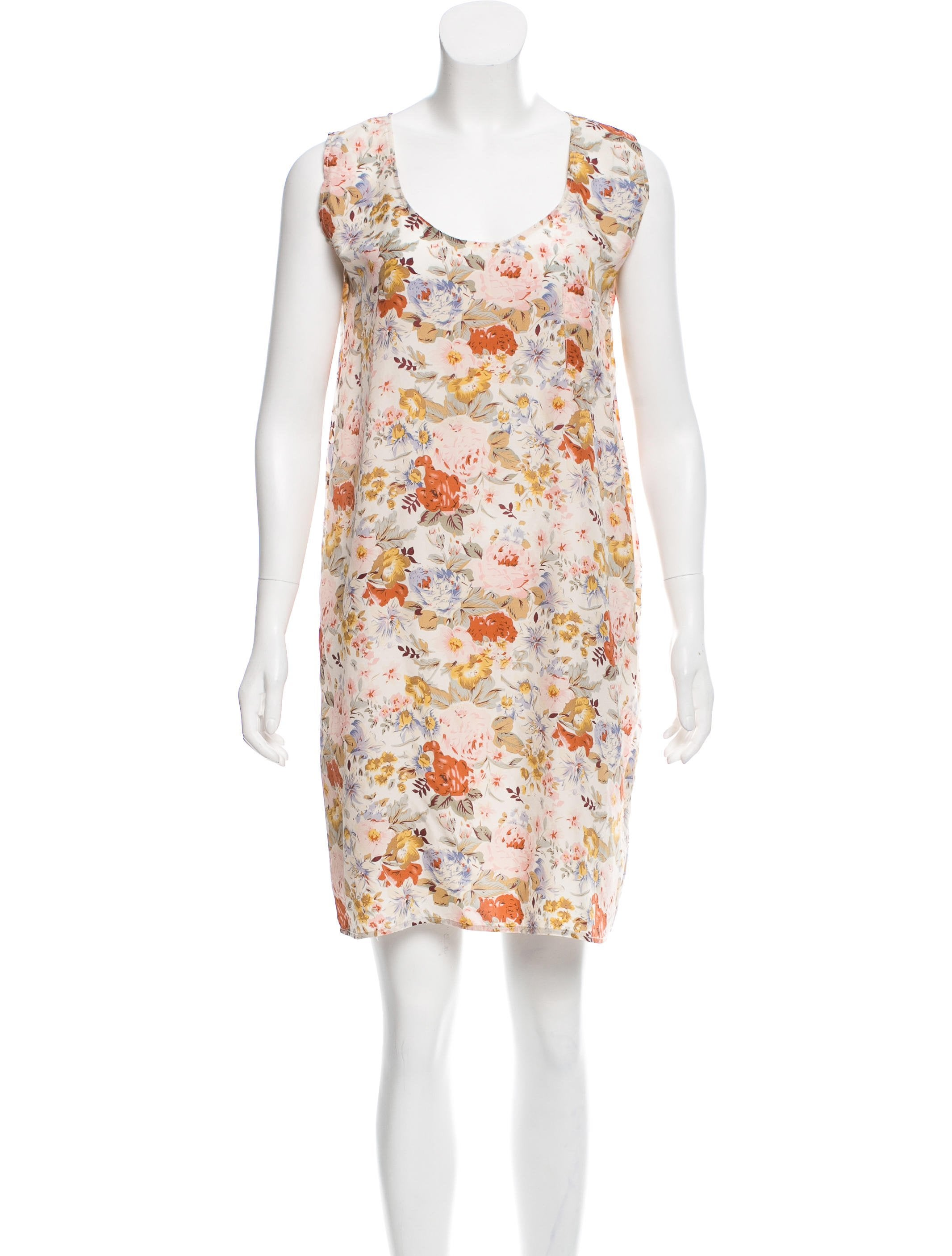 Zimmermann Silk Floral Dress Clothing Wzi26019 The Realreal