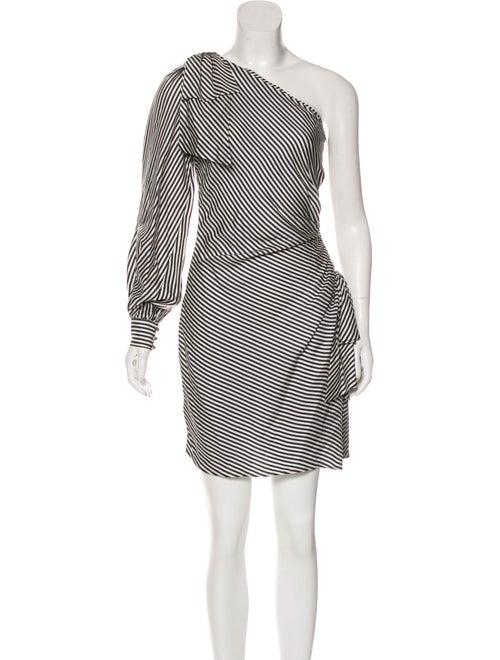 Zimmermann Striped One Shoulder Dress Clothing Wzi29150 The