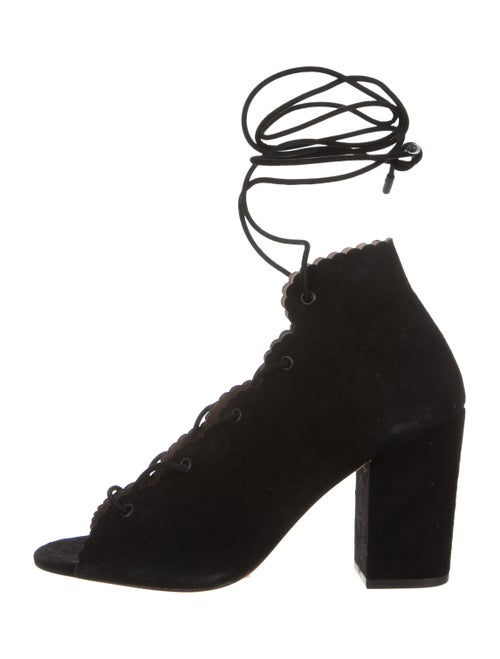 Zimmermann Ghillie Lace-Up Booties w/ Tags Black