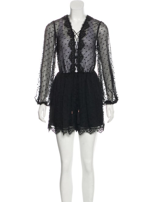 Zimmermann Silk Lace Romper Black