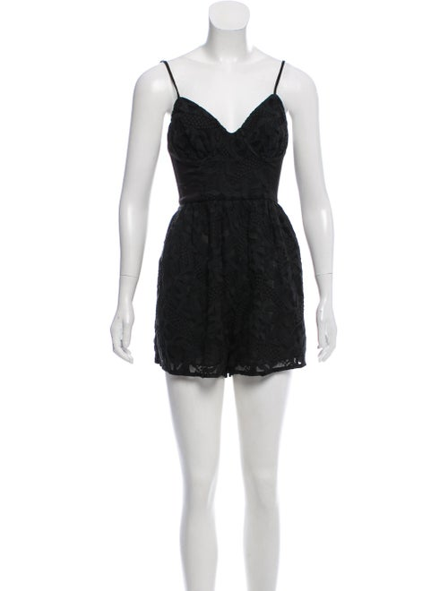Zimmermann Silk Sleeveless Romper Black