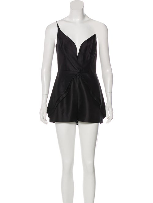 Zimmermann Sleeveless Silk Romper Black