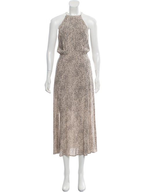 Zimmermann Printed Maxi Dress Beige