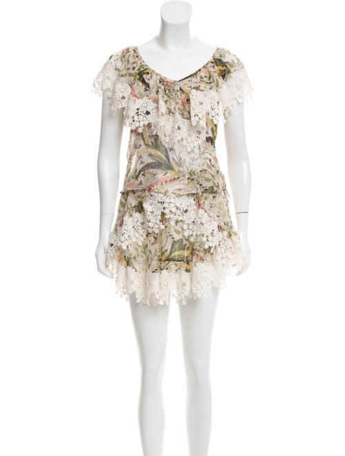 Zimmermann Floral Print Skirt Set
