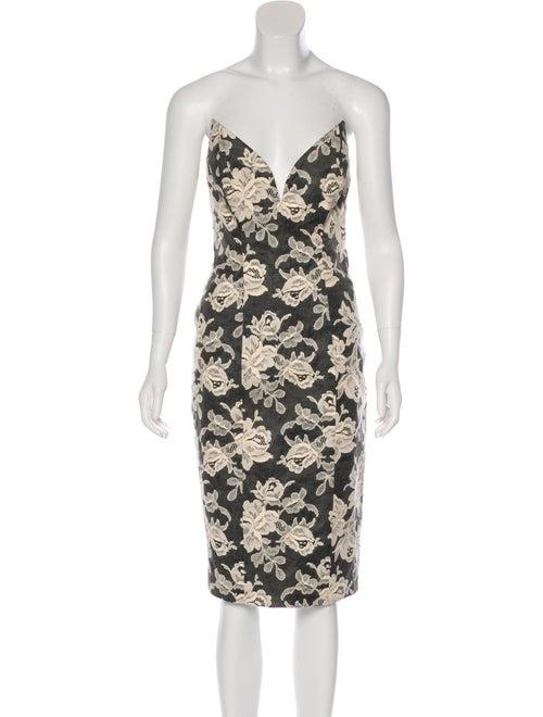 Zimmermann Lace Structured Dress Black