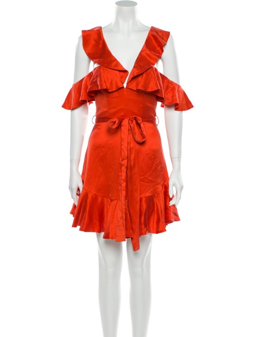 Zimmermann Silk Dress Orange