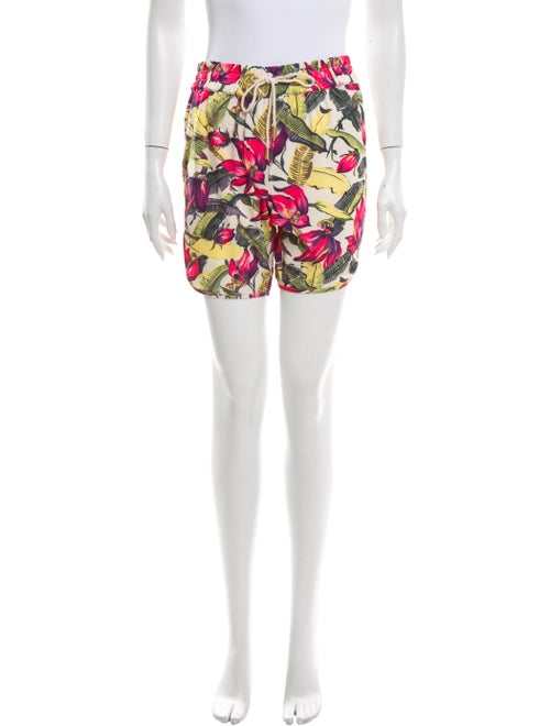 Zimmermann Floral Print Mini Shorts