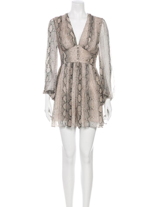 Zimmermann Silk Animal Print Romper