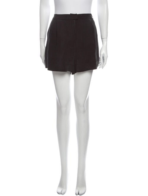 Zimmermann Silk Mini Shorts Grey