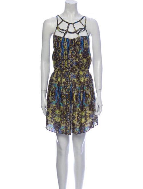 Zimmermann Silk Mini Dress Green