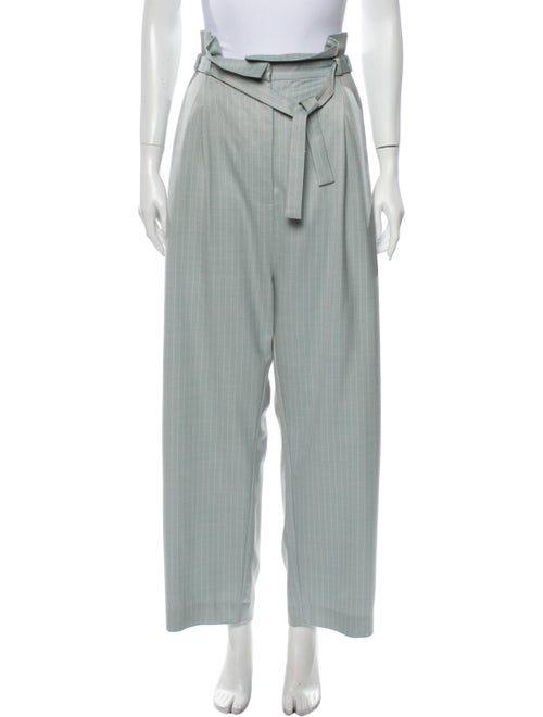 Zimmermann Striped Wide Leg Pants Blue