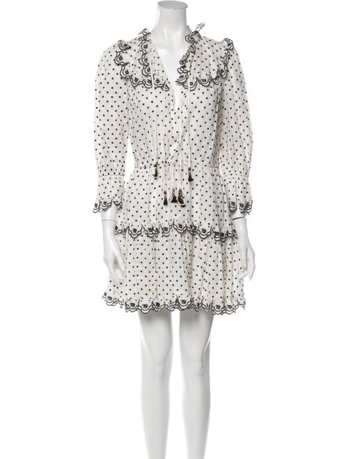 Zimmermann Linen Mini Dress White - image 1