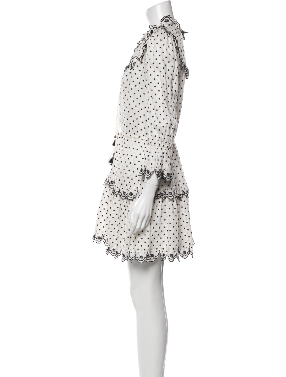 Zimmermann Linen Mini Dress White - image 2