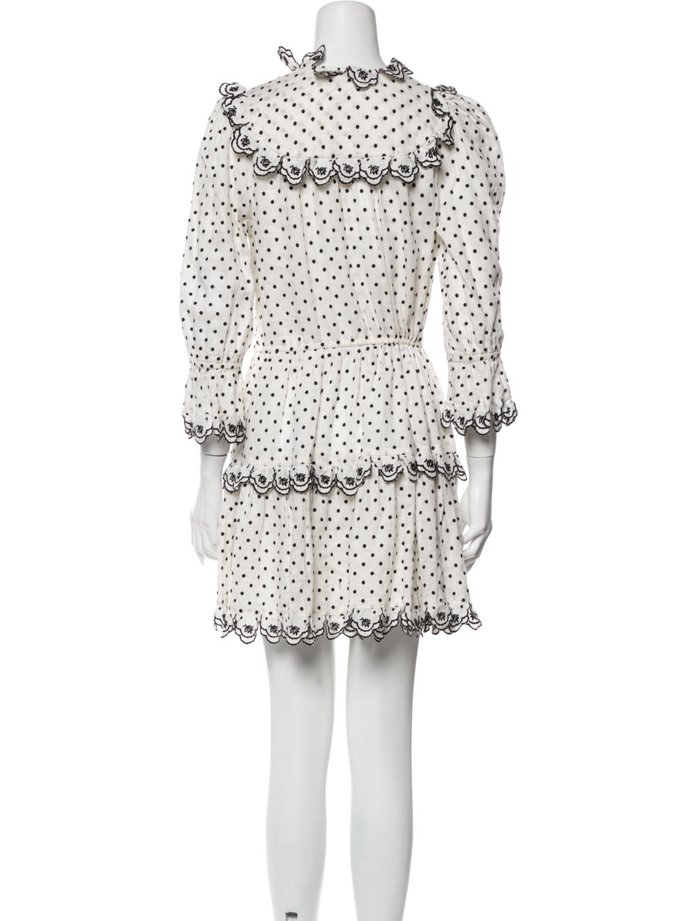 Zimmermann Linen Mini Dress White - image 3