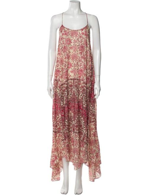 Zimmermann Floral Print Long Dress Pink