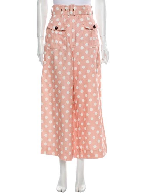 Zimmermann Linen Wide Leg Pants Pink