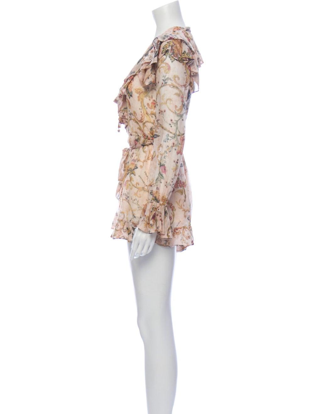 Zimmermann Silk Floral Print Romper - image 2