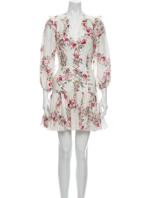 Zimmermann Linen Mini Dress White - image 1