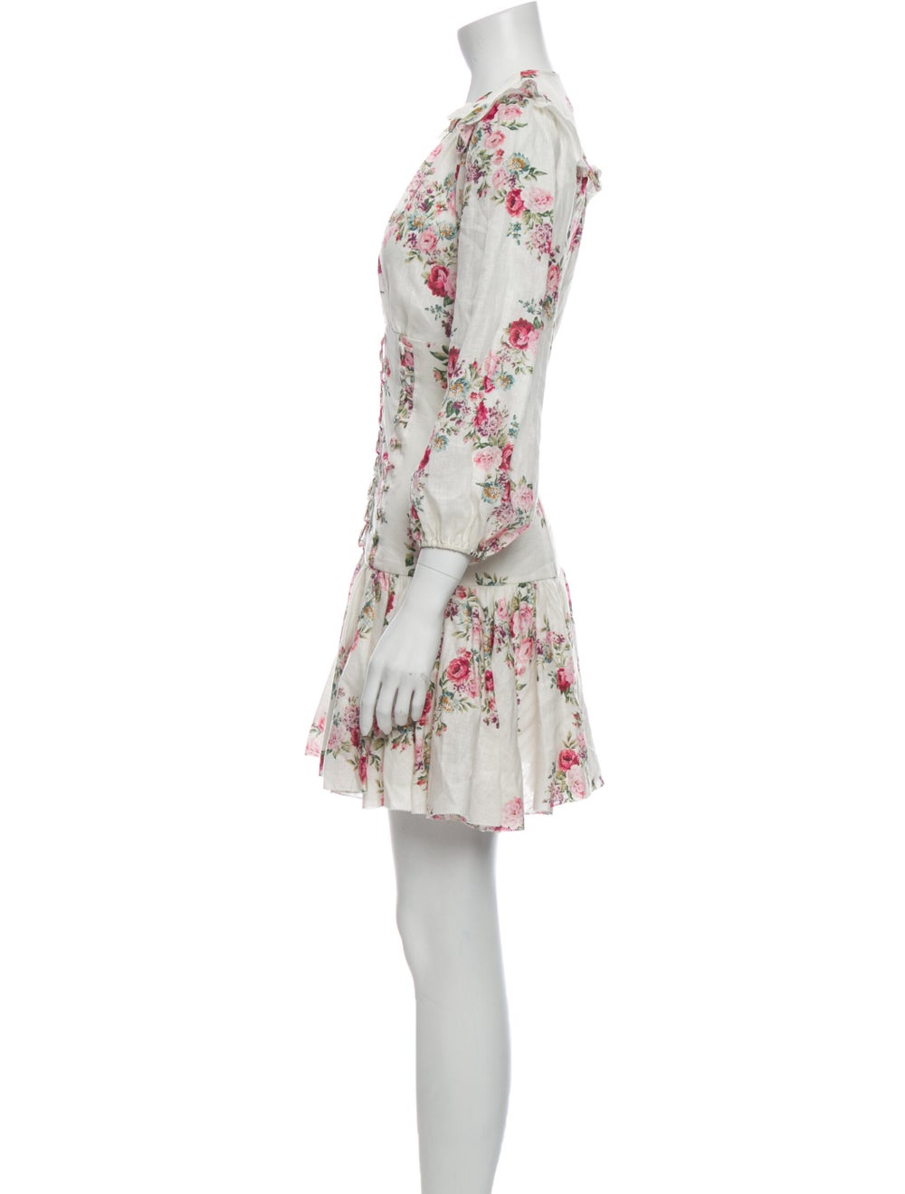 Zimmermann Linen Mini Dress White - image 2