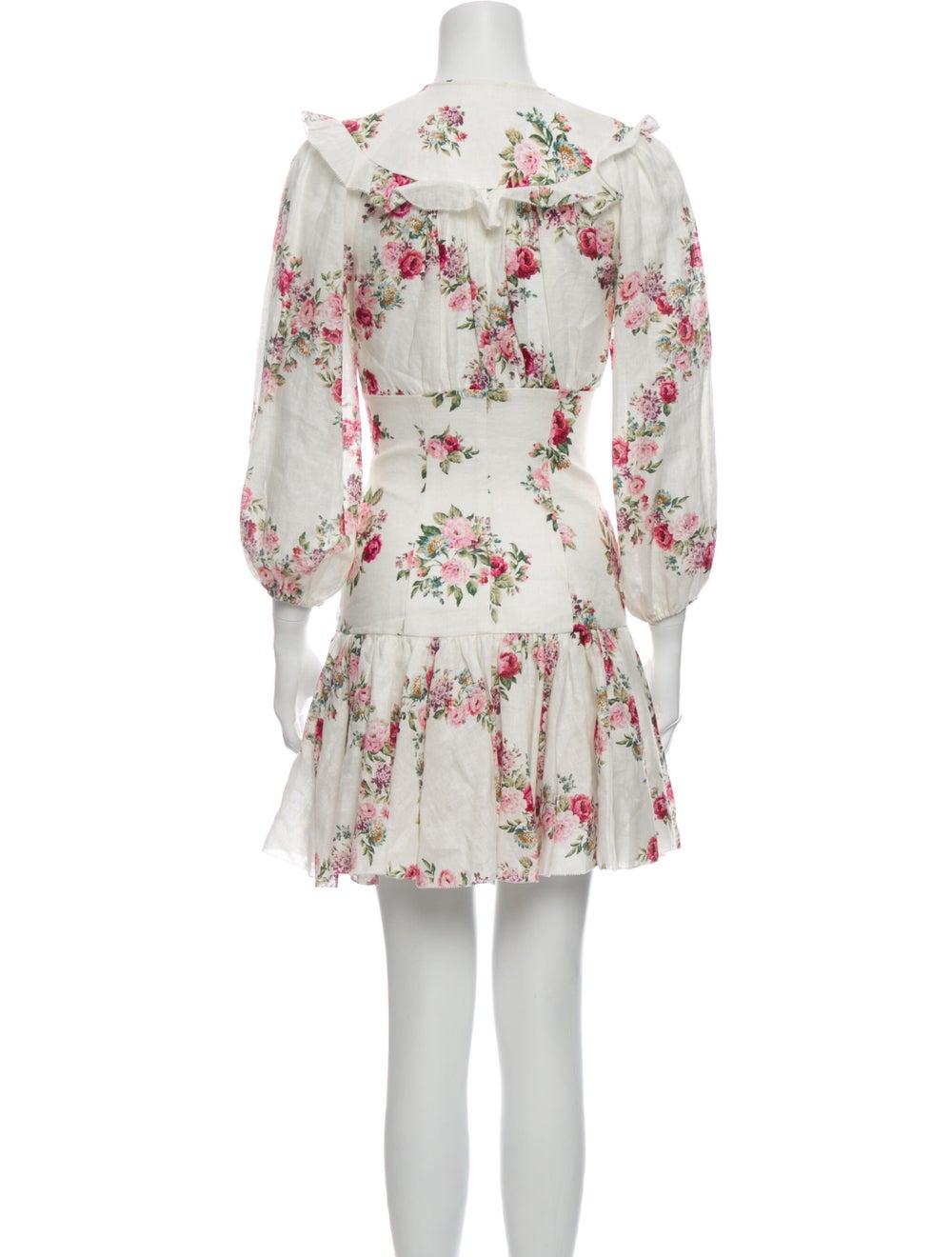 Zimmermann Linen Mini Dress White - image 3
