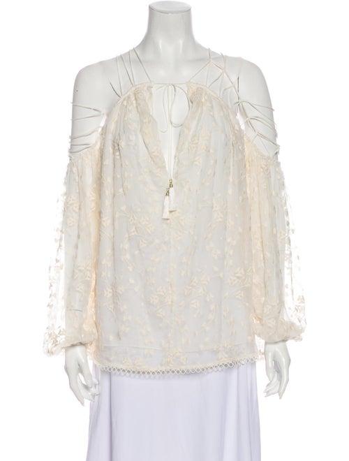 Zimmermann Silk Floral Print Blouse White