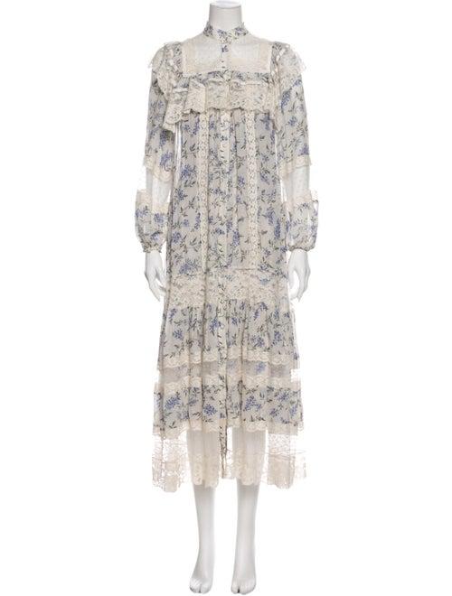 Zimmermann Floral Print Long Dress