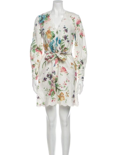 Zimmermann Linen Mini Dress White