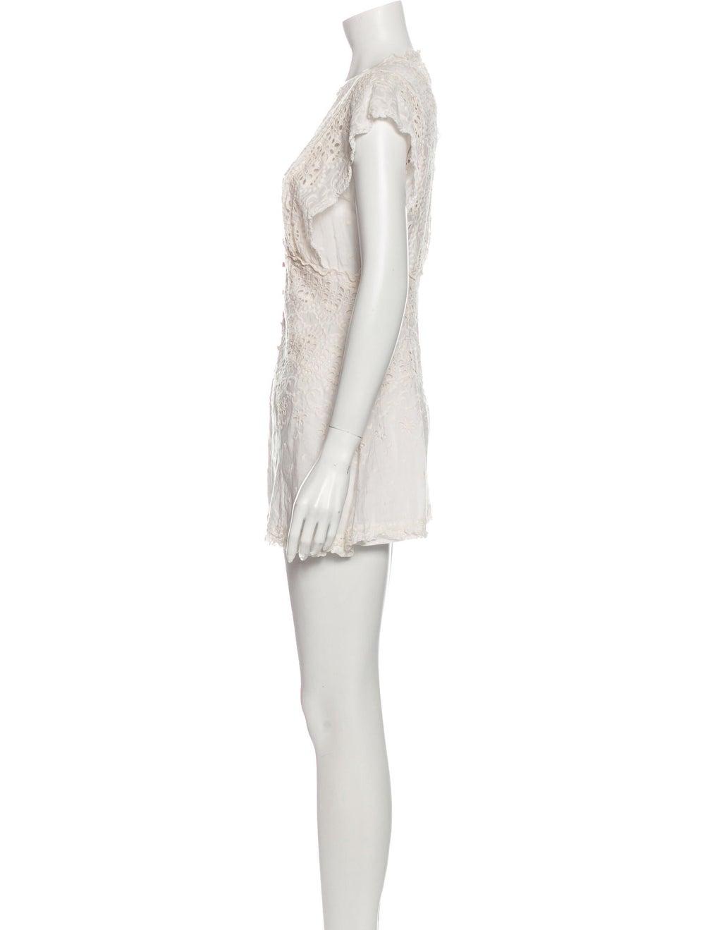 Zimmermann Silk V-Neck Romper - image 2