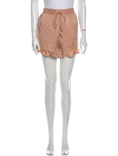 Zimmermann Silk Mini Shorts Pink