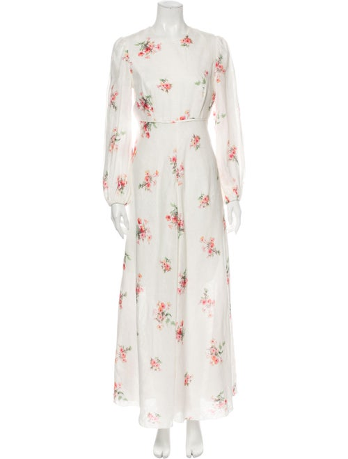 Zimmermann Linen Long Dress White