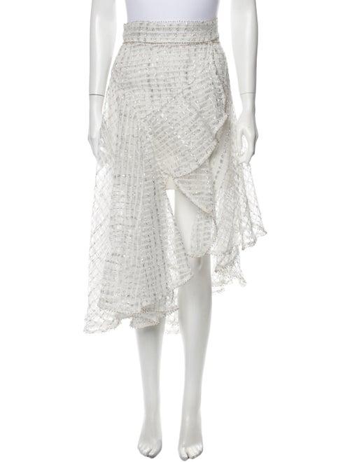 Zimmermann Lace Pattern Midi Length Skirt Metallic