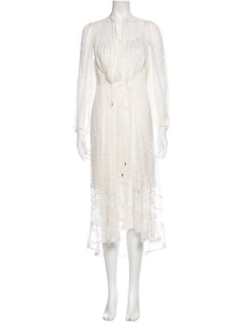Zimmermann Silk Long Dress White