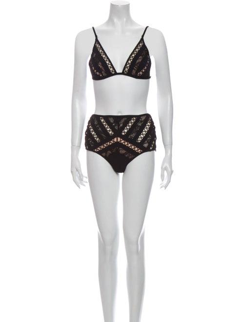 Zimmermann Lace Pattern Bikini Black