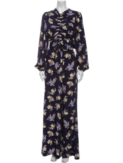 Zimmermann Silk Floral Print Pant Set