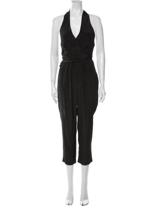 Zimmermann Silk Polka Dot Print Jumpsuit Black