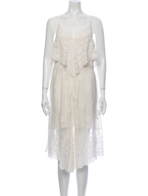 Zimmermann Silk Midi Length Dress White