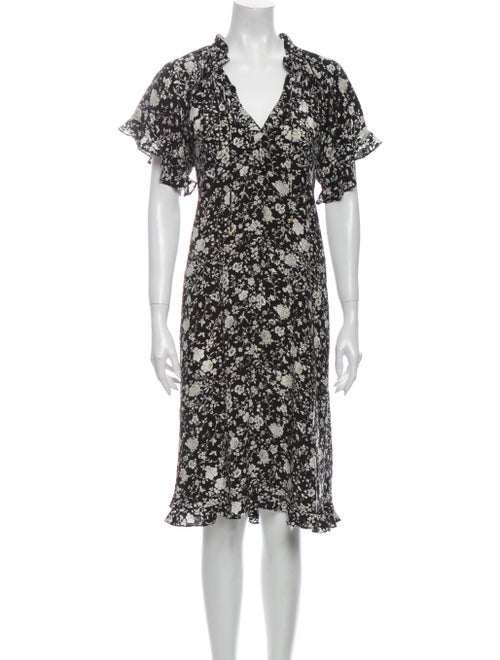 Zimmermann Floral Print Midi Length Dress