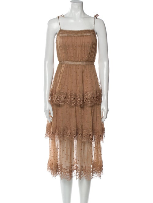 Zimmermann Silk Mini Dress Brown