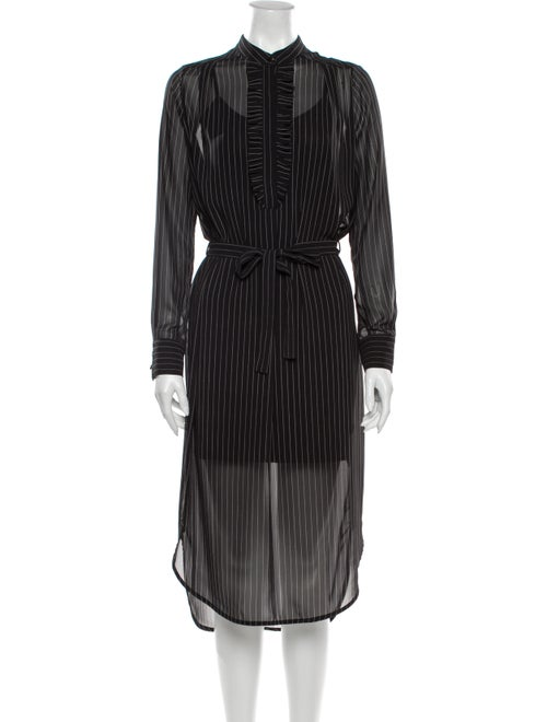 Zimmermann Striped Midi Length Dress Black
