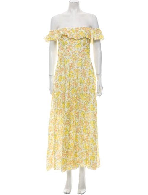 Zimmermann Linen Long Dress Yellow