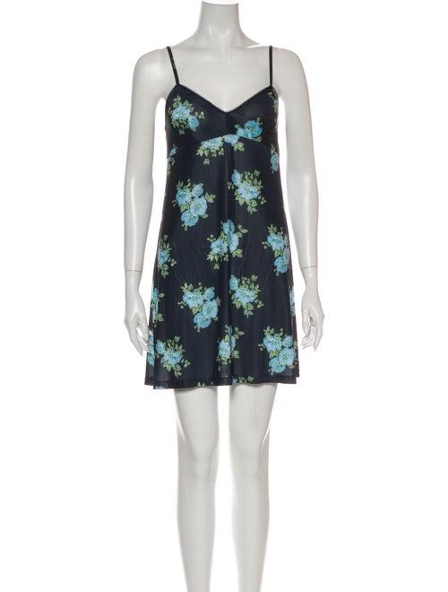 Zimmermann Floral Print Mini Dress Black