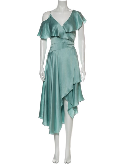 Zimmermann Silk Long Dress Green