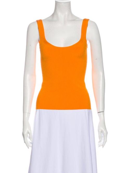 Zimmermann Scoop Neck Sleeveless Top Orange