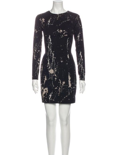Zimmermann Printed Mini Dress Black