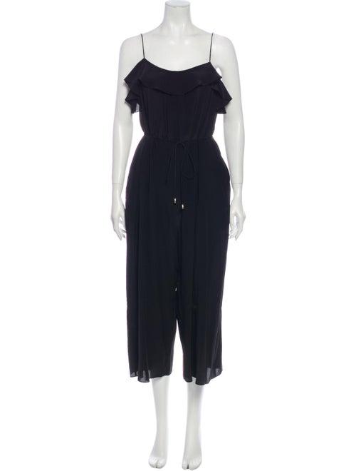 Zimmermann Silk Scoop Neck Jumpsuit Black