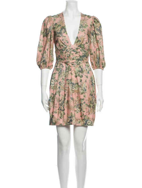 Zimmermann Silk Mini Dress Pink