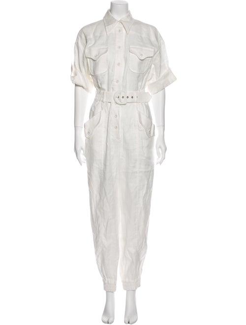 Zimmermann Linen Jumpsuit White