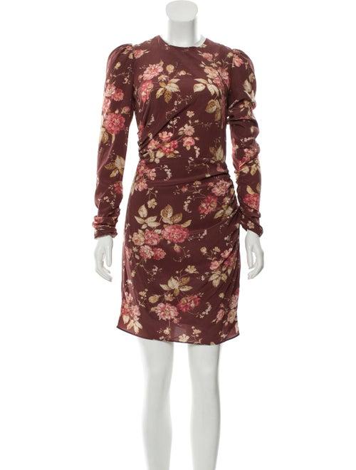 Zimmermann Floral Print Mini Dress Red